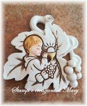 Stampo foglia per comunione bimbo