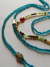 Collana lunga mare smeraldo