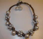 collana corda e perle