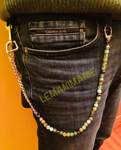 Catena jeans uomo verde