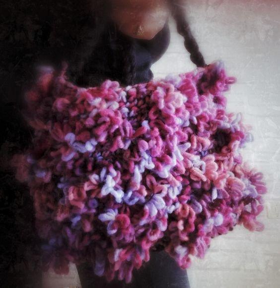 tracollina rosa lana Fiorellino