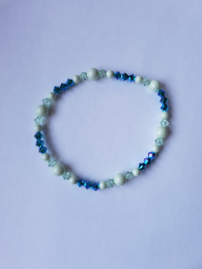 Bracciale elastico Green and Blue