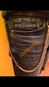 Catena jeans rame e legno