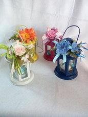 Lanterna con fiori per pasqua