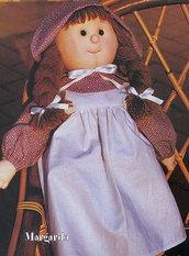 Cartamodello bambola di pezza stile Holly Hobbie.