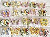 Farfalline in ceramica con calamita