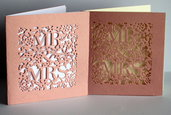 "Partecipazione matrimonio intagliate ""Mr&Mrs""- Card auguri"