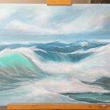 Paesaggio marino invernale