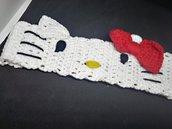 Fascia fermacapelli bimba , crochet , con gattina.