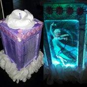 Lanterna con foto e luce led colorata
