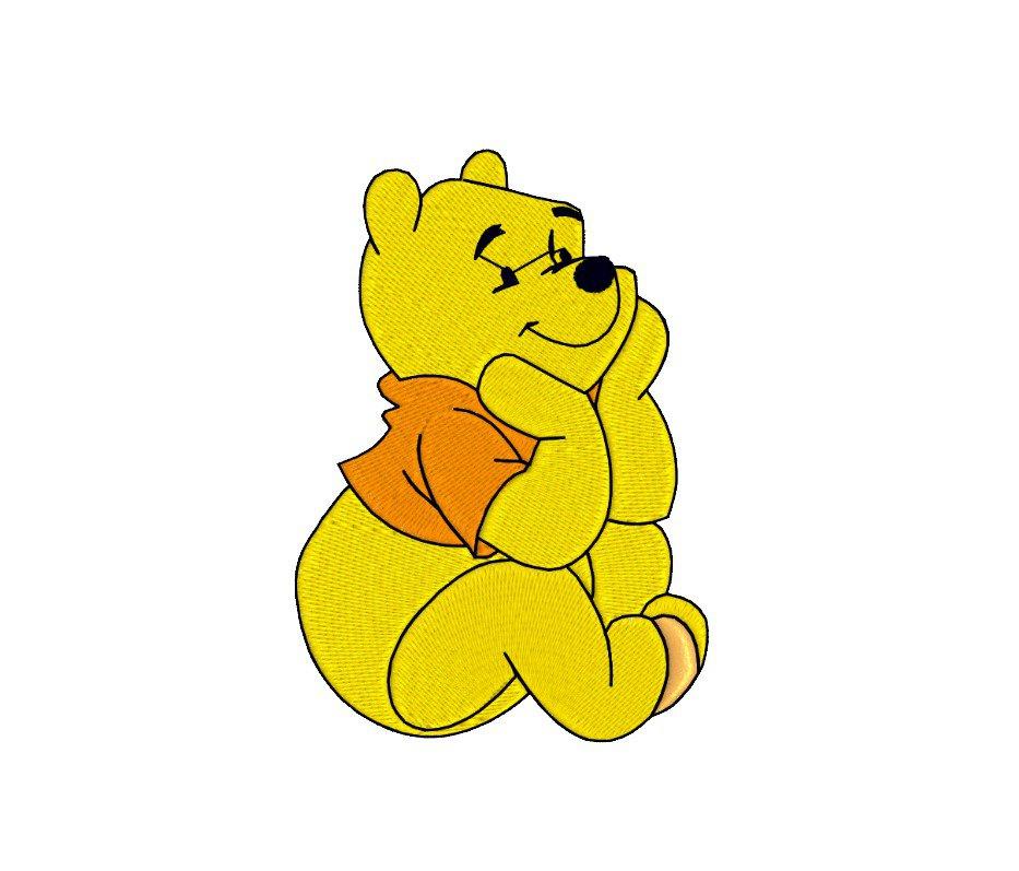 Inspirato a Winnie The Pooh, ricamo digitale. DOWNLOAD IMMEDIATO