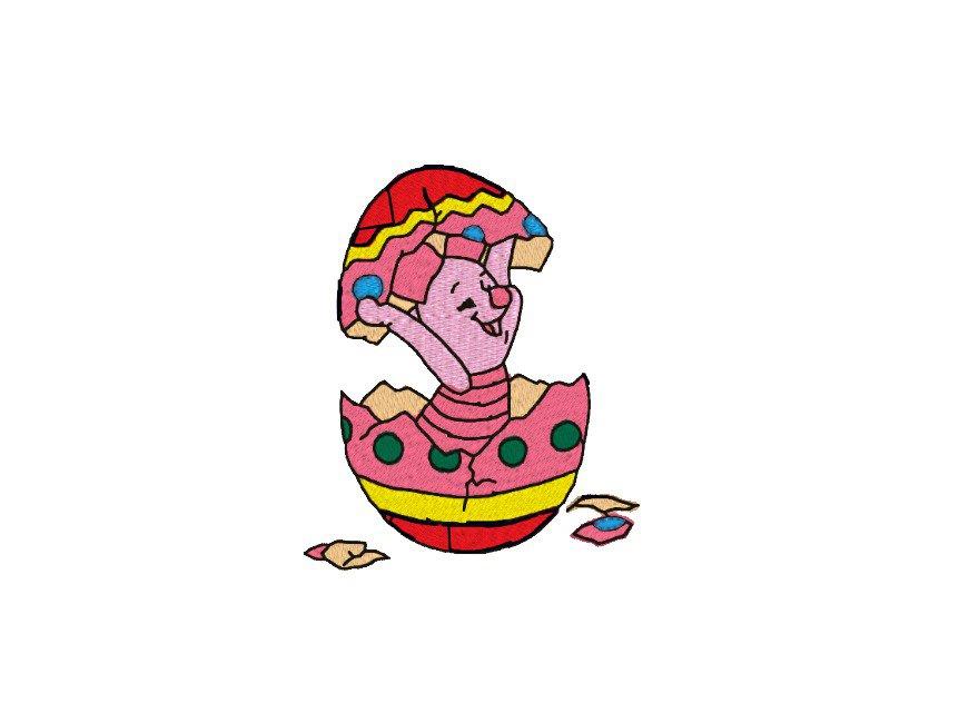 Uovo di Pasqua, Pimpi, ricamo digitale. DOWNLOAD ISTANTANEO