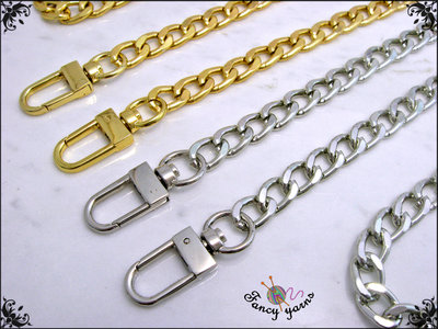 Catena per borsa cm.60 x mm.9 disponibile in 2 colori: oro, argento
