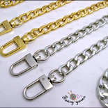 Catena per borsa cm.60 x mm.9 disponibile in 2 colori: oro, argento