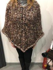 Poncho misto lana