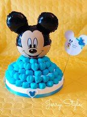 Torta di marshmallows topolino compleanno battesimo nascita