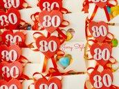 Scatolina portaconfetti con calamita personalizzata compleanno bomboniera 80 anni
