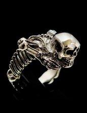 Anello in bronzo scheletro intero pirati dei caraibi originale