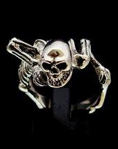 Anello in argento925 scheletro pirata dei caraibi jack