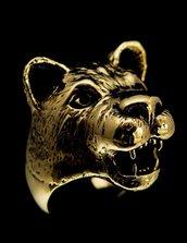 Anello giovane leone bronzo puma gattone felino leonessa in bronzo