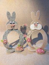 Coniglietti portaovetti in feltro