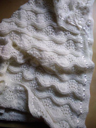 Il miglior posto prezzo moderato comprare a buon mercato Copertina battesimo bianca ai ferri in lana neonato elegante battesimo  bianco fatta a mano regalo nascita
