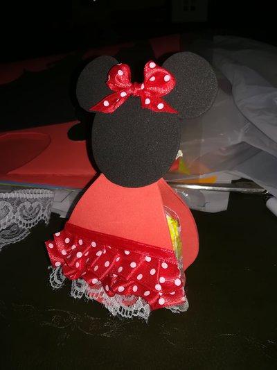 Segnaposto porta confetti ricordino Minnie in gomma crepla