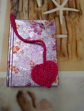 Notebook cuore viola