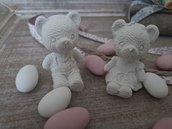 Orsetti in gesso ceramico 10 pz. per decorazioni, bomboniere e per arricchire le vostre creazioni