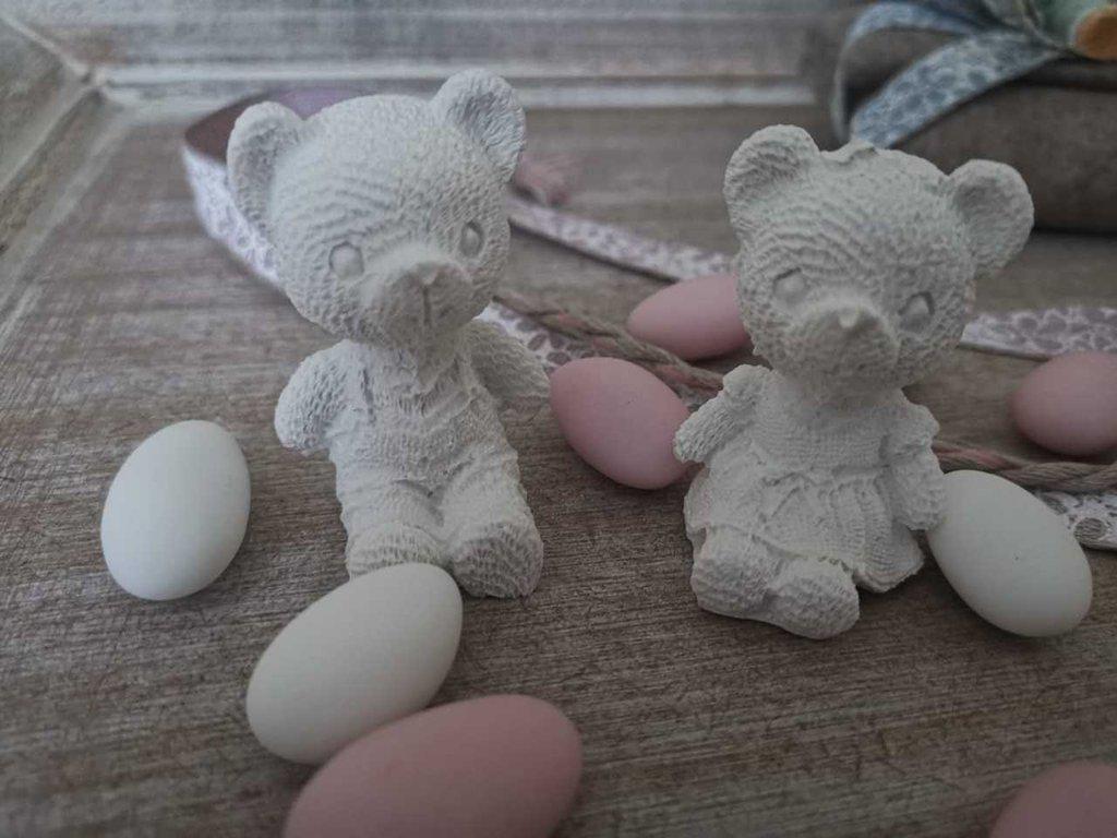 Decorazioni Pareti Orsetti : Orsetti in gesso ceramico pz per decorazioni bomboniere e per