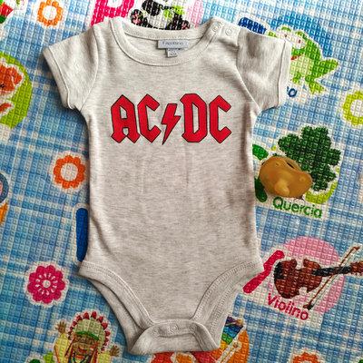 AC DC body bebe, dipinto a mano, body personalizzati, vestiti neonato, tutte le taglie