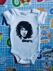 THE DOORS body bebe, dipinto a mano, body personalizzati per bambino e bambina, vestiti neonato
