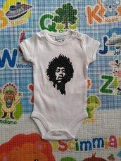 JIMI HENDRIX body bebe, dipinto a mano, body personalizzati per bambino e bambina, vestiti neonato
