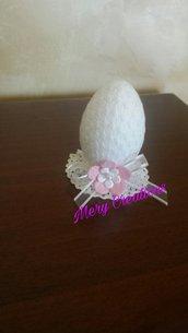 Segnaposto Pasqua, uovo, pizzo, fiore, festa