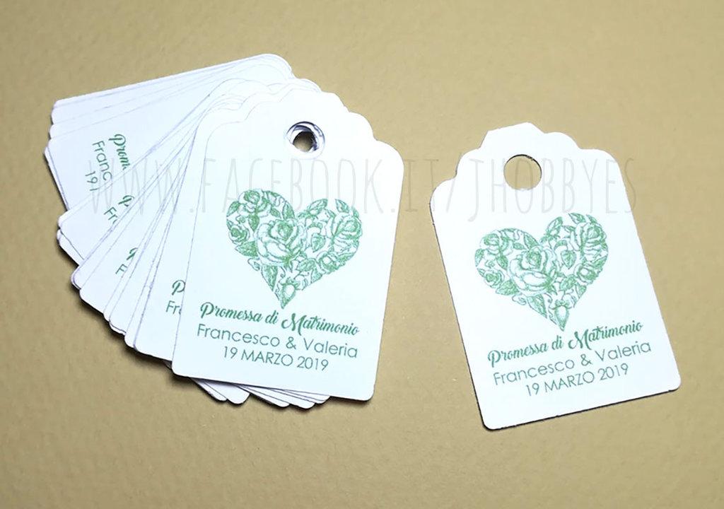 Cartoncini Bomboniere Matrimonio.Bigliettini Bomboniere Promessa Di Matrimonio Feste Matrimonio
