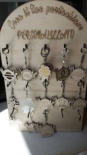 Portachiavi personalizzato in legno