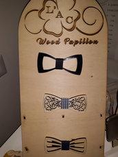 Papillon in legno o legno e pleziglass personalizzabile