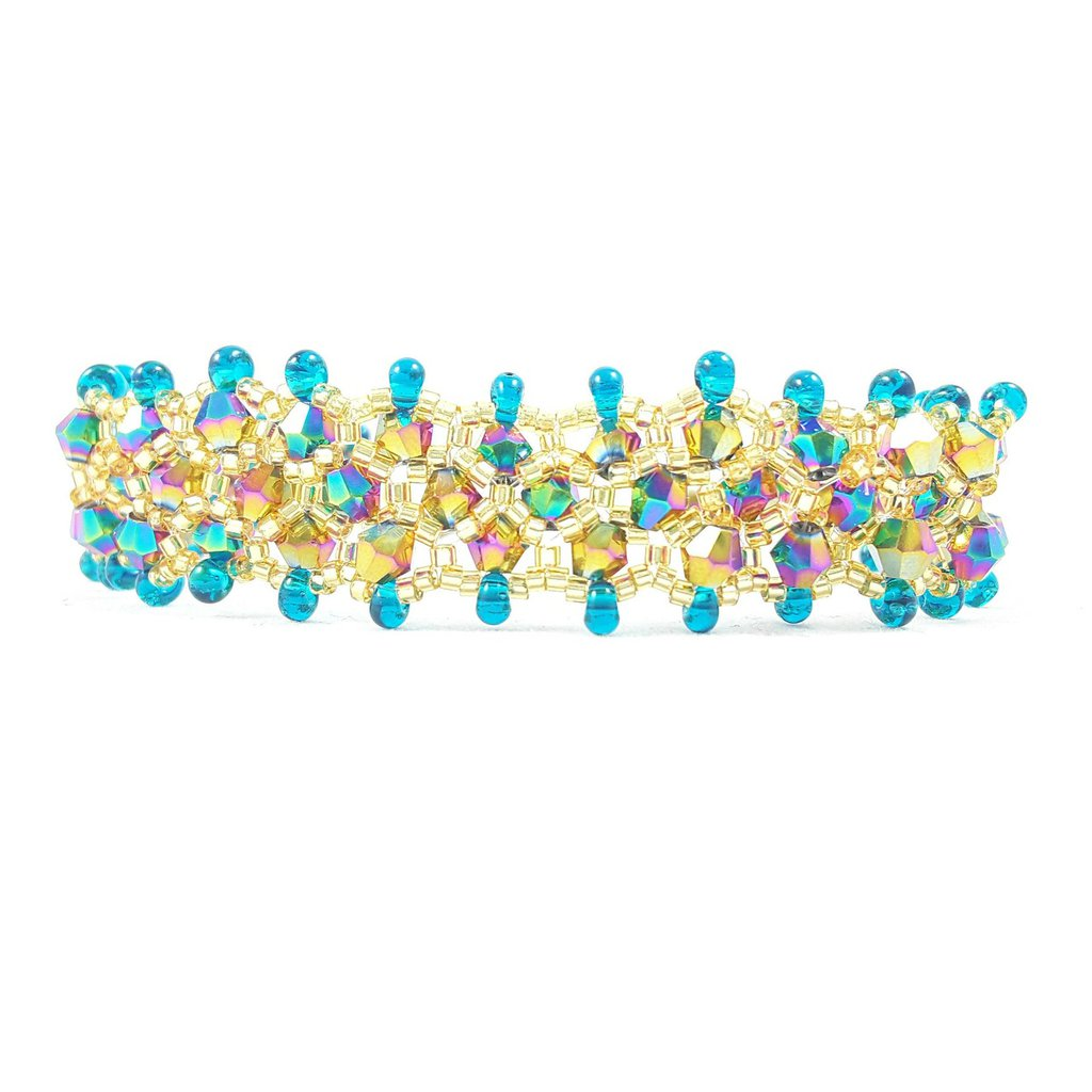 Bracciale Argento 925 con cristalli e perline, pezzo unico, argento sterling, elegante, moda, oro e verde smeraldo, idea regalo, compleanno di lei.