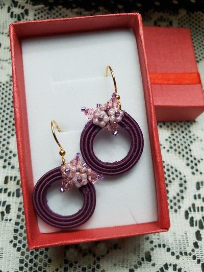 Orecchini fiori di susino
