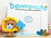 Portafoto nascita leoncino - Benvenuto