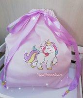 Sacchetto nascita unicorno, borsa primo cambio, sacchetto primo cambio