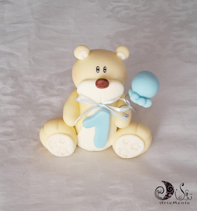 Cake topper orsetto primo compleanno personalizzabile