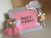 Portafoto nascita, compleanno orsetto/a