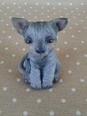 Miao! Gatto in fimo, miniatura Sphynx
