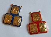 1 x ciondolo centrale per collana, a scelta, colore rosso o blu