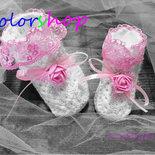 Bomboniera calza di lana baby con ciuccio o fiore