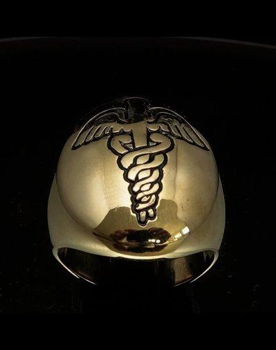Anello in bronzo con Caduceo