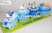Torta di pannolini Treno trenino grande Pampers + regalini - Idea regalo nascita battesimo baby shower