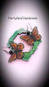 Orecchini farfalla polyshrink handmade