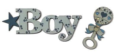 SCRITTE LEGNO BABY GIRL BOY cm. 10x4 DA DIPINGERE PER DECORAZIONI BABY IN compensato damm.3